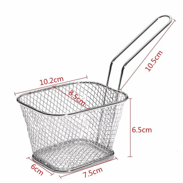 Chips Mini Fry Baskets Stainless Steel Fryer Basket Strainer Serving Food Presentation Cooking Tool French Fries Basket