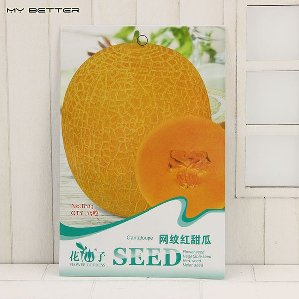 Netted Muskmelon Seeds Fruits and Vegetables Melon Seeds 15 Particles