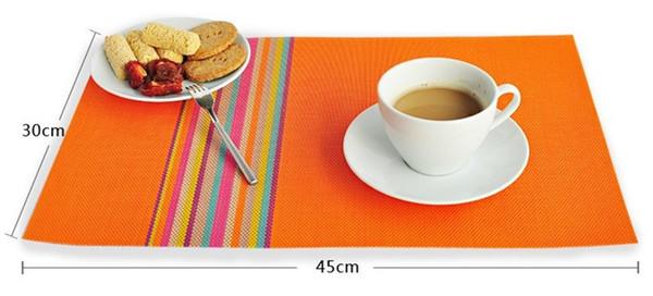 Pvc Placemat Dining Table Mats Set Bowl Pad Napkin Tray Mat Coasters Kids