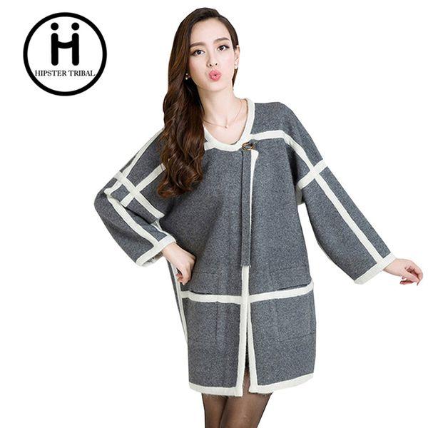 Wholesale- 2016 Women jacket sweater winter Casual Knitted sweater Cardigan Feminino Jumper female girls casaquinho wildfox knitwear