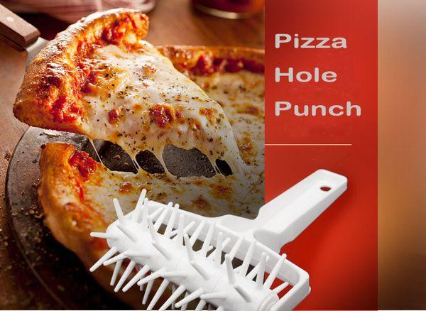 Pizza Puncher Pin Plastic Roller Wheel Grande Round Pin Pin-wheeled Bakeware Coltello da cucina Pizza Cutter Pizza Hole Punch
