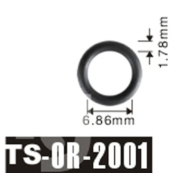 Free shipping 6.86*1.78 mm For Peugeot Fuel Injector Viton O\'Rings ...