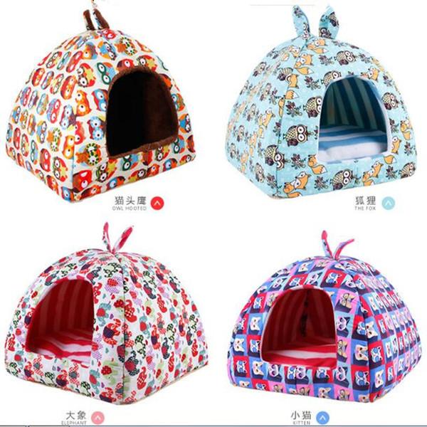 Dog Bed House Inverno Caldo Pet Kitten Puppy Cat Dog Cuscino Divano Basket Divano letto Mat Pad per cani di piccola taglia