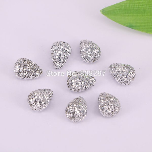 20Pcs silve crystal rhinestone drop connector spacer beads, Diy jewelry making