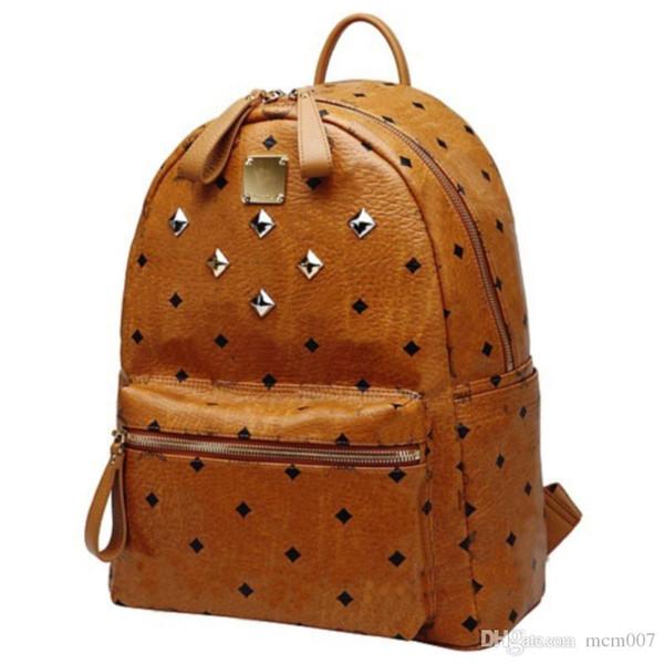 2017 Spring Fashion Classical designer Shoulder Backpack Bag Rain girlhood Element Rivets Love Backpack travel bags purse