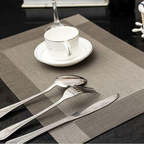 Venda por atacado - 45X30cm Placemats de mesa Moda placemats de vinil para mesa de PVC esteira de mesa de jantar