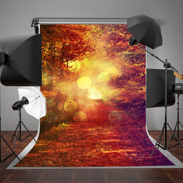 SUSU 5x7ft Digital Printing Wrinkles Free Autumn Photography Backdrops Natural Scenic Background Fantasy for Wedding Photo Video