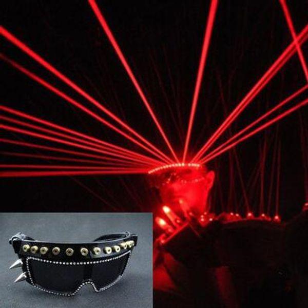 LED güneş gözlüğü Bar parti Prens gece kulübü lazer gözlük dans akşam şarkıcılar DJ sahne ışık yayan lazer gl gözlük Lazer gözlük yapmak