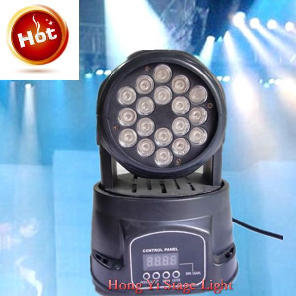 China moving head dj equipment lighting led 18*3w rgb dmx wash Stage DJ Club Party Show 54W Wash AC 90v-240v