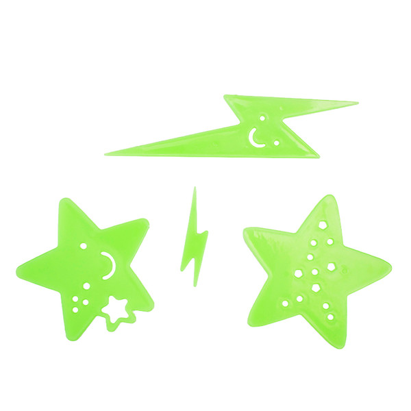 Diy kids wall sticker for kids rooms glow in the dark wall stickers home decor living room fluorescent poster wallpaper LF-036