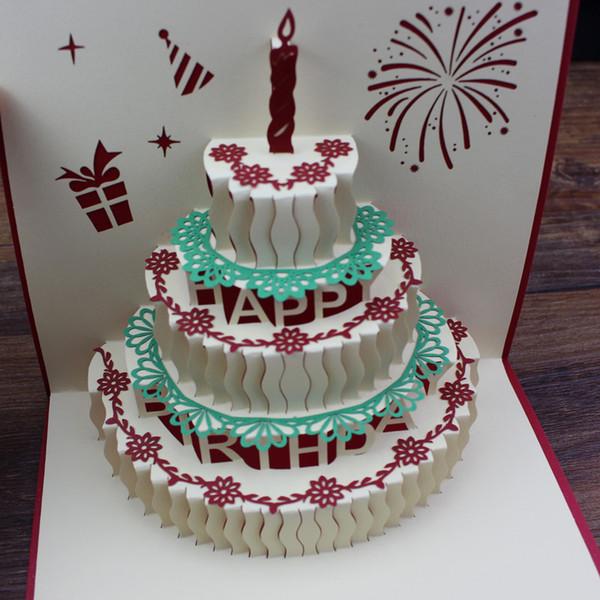 3d birthday card pop up postcard greeting cards birthday cards paper 3d birthday card pop up postcard greeting cards birthday cards paper pop laser cut vintage cake m4hsunfo