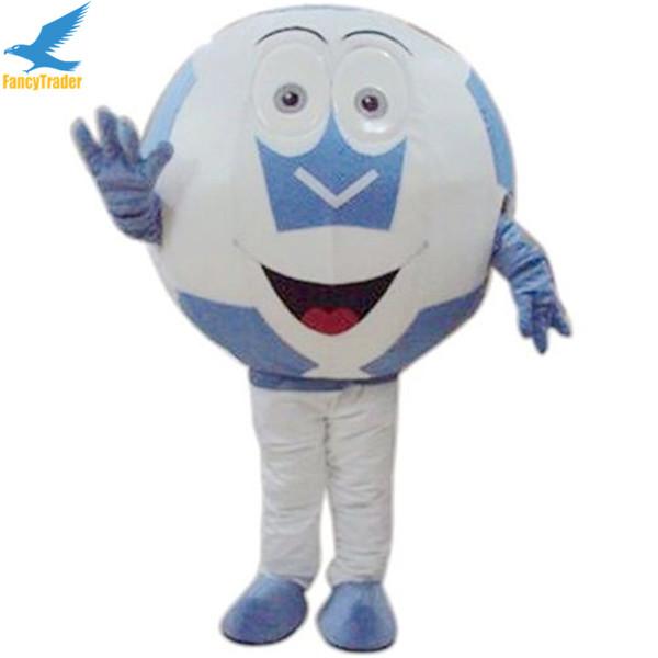 Grosshandel Fancytrader Neue Fussball Maskottchen Kostum Fussball Maskottchen Kostum Fussball Kostum Fur Team Cheerleading Kostenloser Versand 2 Farben