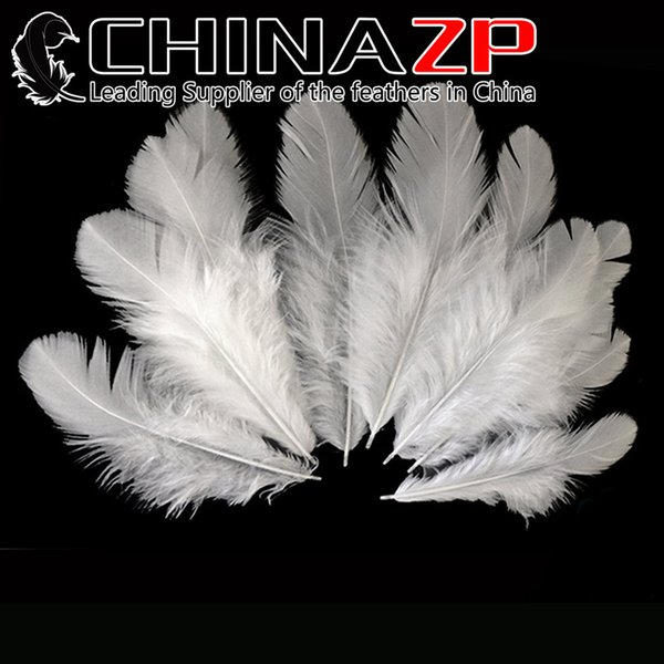 Handpicked CHINAZP 6~10cm 100Pcs/lot Premium Quality Soft Natural White Hen Saddle Feather for Party Decoration