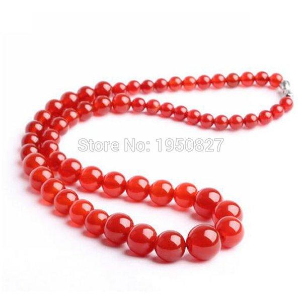 Alta calidad nueva marca de collar de ágata de mujer natural con ágata roja collar colgante de jade real regalo de la joyería