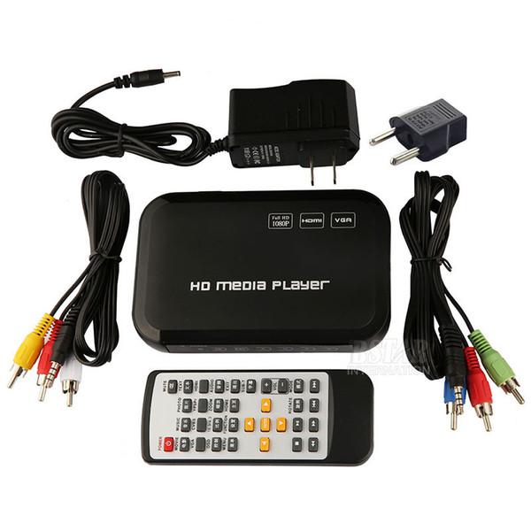 All'ingrosso-Nuovo USB Digital HD 1080P HDD Media Player HDMI VGA MMC supporto DivX AVI RMVB MP4 H.264 MKV FLV Musica Film