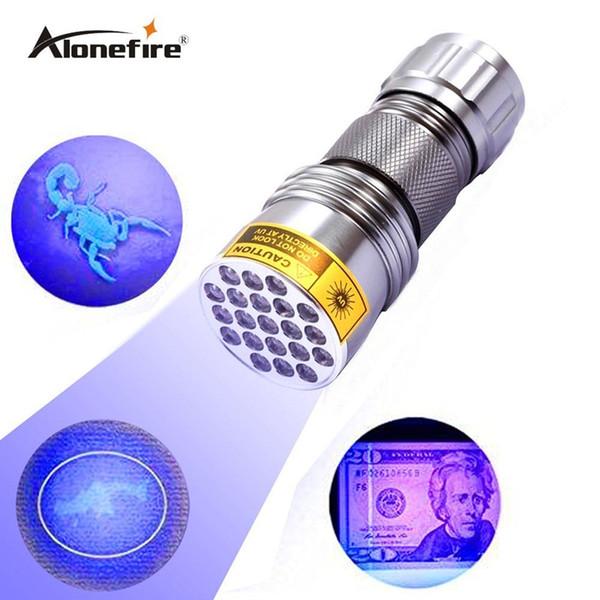 10pcs High Quality 21LED UV Purple Light Aluminum flashlight 100%NEW