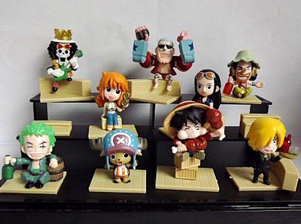 9Pcs/Lot Anime Figure One Piece The New World Luffy/Roronoa/Zoro/Sanji/Chopper/Nami/Boa Hancock PVC Action Figures
