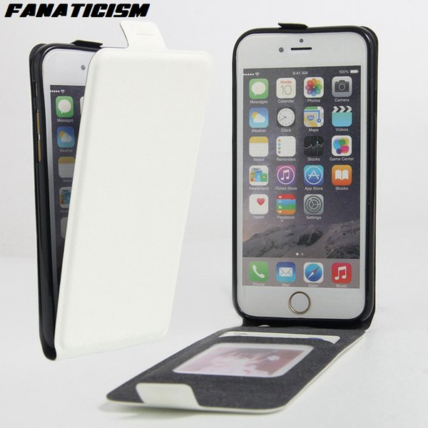 Vertical Flip Luxury PU Leather Case For Apple iPhone 7 iphone 6 6s SE 5S Flip Up Down Cover Coque With Card Holder