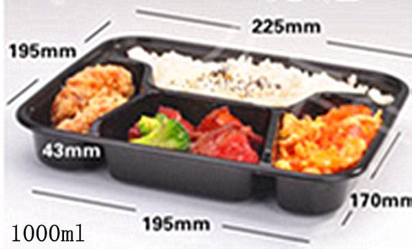 newest collection later big sale Compre Envases De Comida Seguros Para Alimentos Bandeja De Bento / Bandeja  De Almuerzo Con Cubierta Compartimiento De 1/2/3 Compartimientos De ...