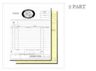 La taille faite sur commande ou la taille A4 A5 livre de facture de facture sans carbone NCR cite des livres copie en double