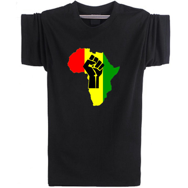 reggae africa t shirt rasta poster short sleeve music style tees leisure punk clothing elastic cotton