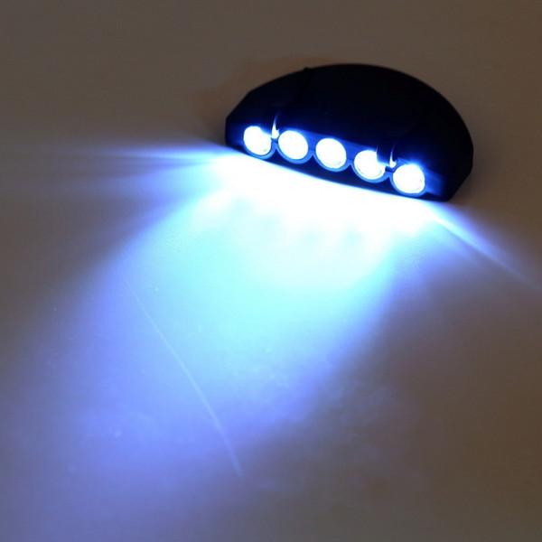 top popular Hat clip lamp 5 LED HeadLamp Flash Cap Hat Torch Head Light Bulb Fishing Camping Ultra Bright 2021