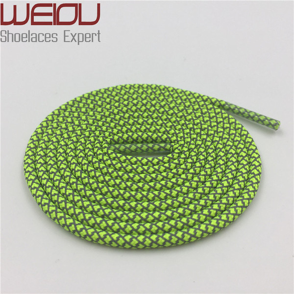 Weiou fashion plastic tips Round Shoe Laces 3M Shoelaces sneakers Rope Laces 120cm Ropelace for bootlaces mens Girls
