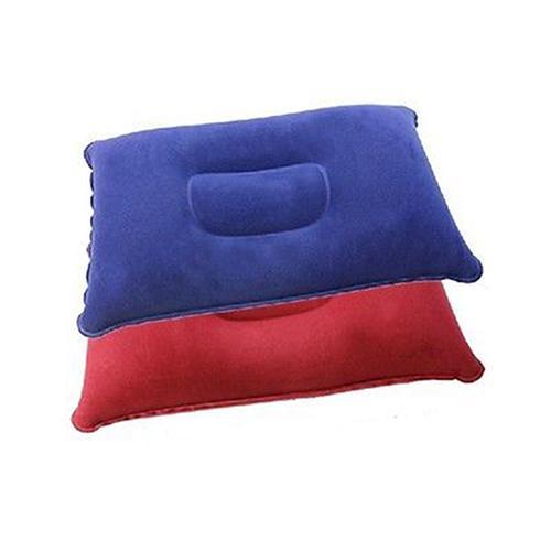 Wholesale- Inflatable Pillow Travel Air Cushion Camp Beach Car Plane Bed Sleep Head Rest