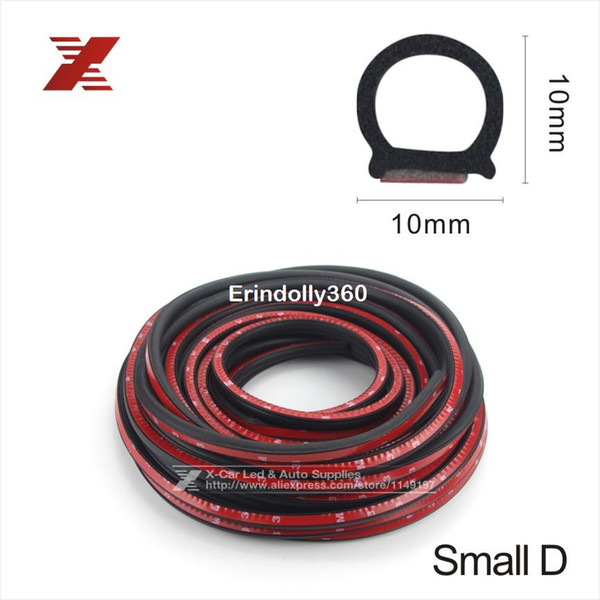 top popular Small D-shape 4 Meter 3m Adhesive Car Rubber Seal Sound Insulation Car Door Sealing Strip Weather Strip For Engine Hood Car Boot 2021
