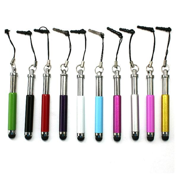 Wholesale 3000Pcs - Retractable Stylus Pen Touch Pens For Capacitive Screen IPAD PHONE Tablet PC