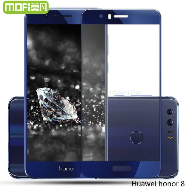 Wholesale- honor 8 glass tempered full cover huawei honor 8 screen protector film original 5.2 inch huwei hawei hauwei honor8 protect 64gb