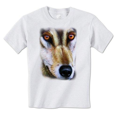 Good T Shirt Designs Graphic Men Gray Wolf Face Picture North American Timber Wolf Wildlife O-Neck Short-Sleeve T Shirts