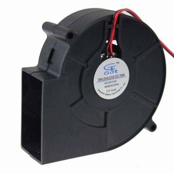 Wholesale- 2pcs 97x33mm 97mm 9733 Brushless DC 24 Volt PC Comoputer Ventola di raffreddamento Ventola di raffreddamento
