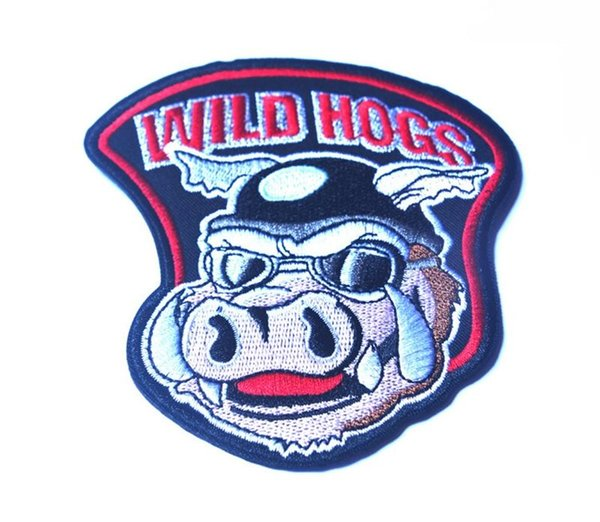 """4"""" Wild Hogs Motocycle Rider Biker Gang Iron On Vest Jacket Patch Embroidered Patches Badges Fabric Armband Stickers"""