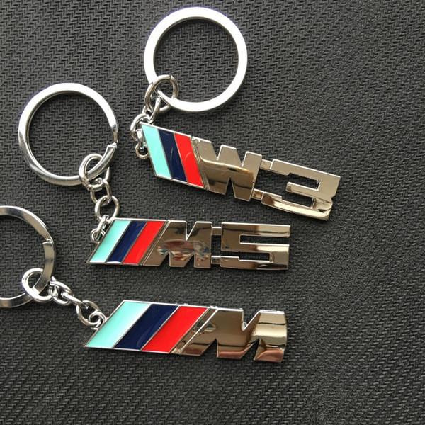 M M3 M5 Logo Metal Auto Key Ring Key Chain KeyChain KeyRing KeyHolder Fob For BMW M Series