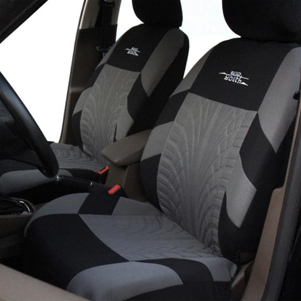 Las fundas de los asientos de auto bordados de la marca AUTOYOUTH se ajustan a la forma universal La mayoría de las fundas de autos con detalle de riel de neumático Protector de asiento de automóvil de estilo