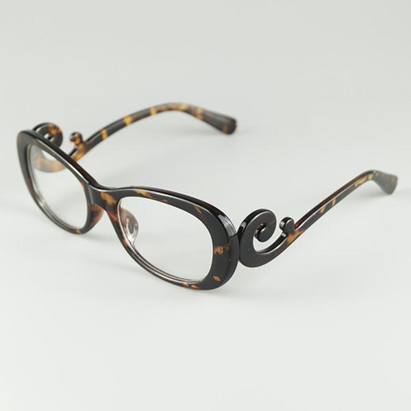 Comercio al por mayor 2018 Nueva Marca Sexy Lady Glasses Frame Nubes Flotantes Barroco Estilo Diseño Clear Lens Optical Eyewear