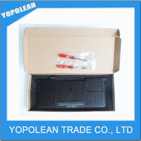 "Wholesale New laptop Battery for Apple MacBook Air 11"" A1465 A1370 Battery Model A1406 battery Free shipping"