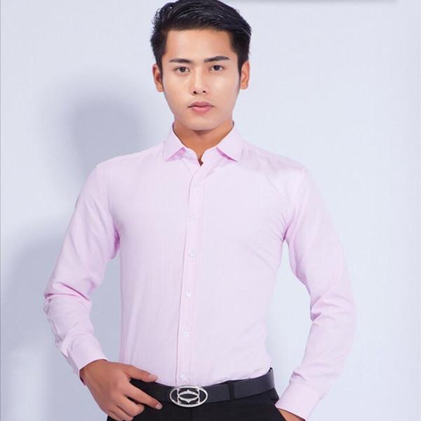 Camisa dos homens de cor sólida camisa do noivo feito sob encomenda groomsman camisa slim fit formal ocasiões de negócios camisa de manga longa camisa