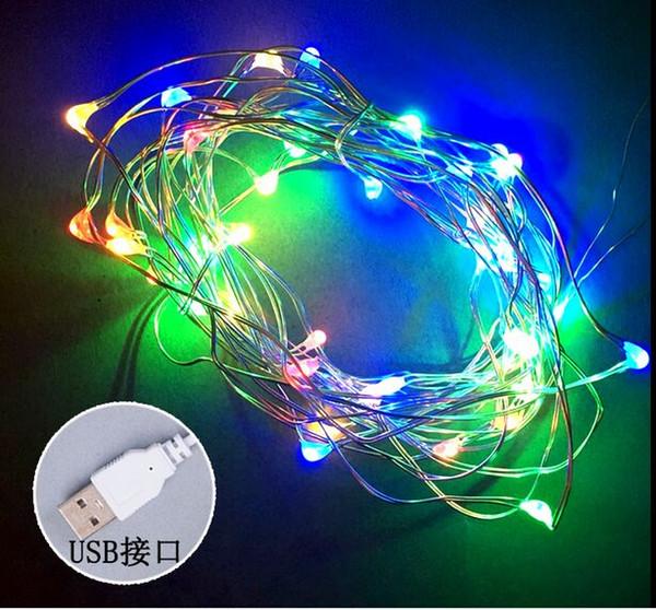 4m 40pcs alambre de cobre de las luces