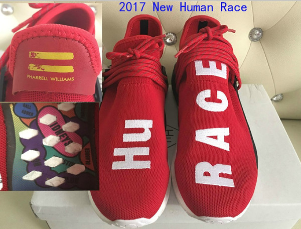 ff5233fc09f5f Top Factory Red Human Race With HU Race Real Boost Pharrell Williams X  Running Shoes Men Women Basketball Shoes Size 36-48