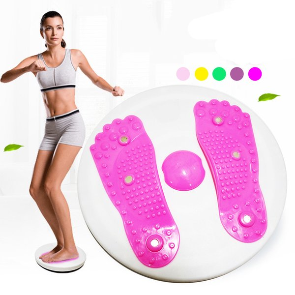 Wholesale- Fitness Waist Twist Boards Exercise Massage Twister Plate Magnet Plate Twist Disk Slimming Legs Fitness Equipment ZF7-0402