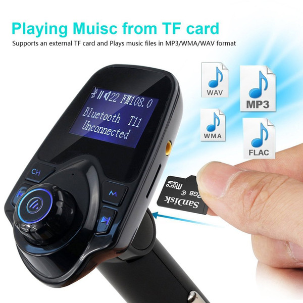 Wireless FM Transmitter, Streambot Music Radio Car Kit with 3.5mm Audio Plug and USB Car Charger Adapter