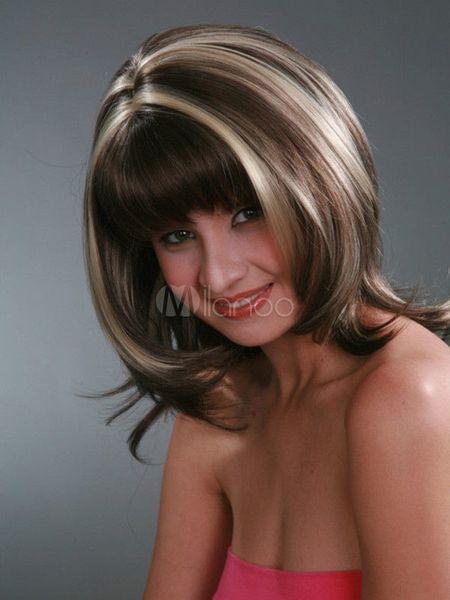 Yeni Seksi kadın Orta Kahverengi Sarışın Peruk Güzel Doğal Moda Saç Peruk ücretsiz kargo