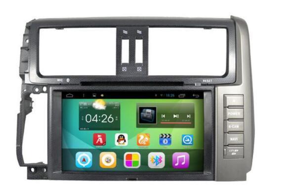 8 inch Android 4.44 Car Dvd Gps Navi Audio for TOYOTA Prado 150 2010-2013 HD1024*600 1080p WIFI 3G 4G DVR support quad core