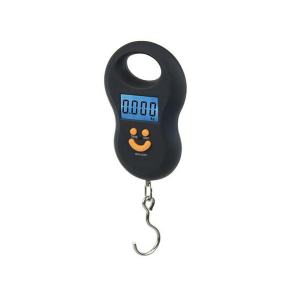 50Kg / 10g Asılı Ölçekli Mini Dijital Ölçekli Arka Işık Balıkçılık Cep Ağırlık Ölçekli Gülümseme Yüz Bagaj Ölçekler WH-A03L 100 adet / grup Ücretsiz DHL