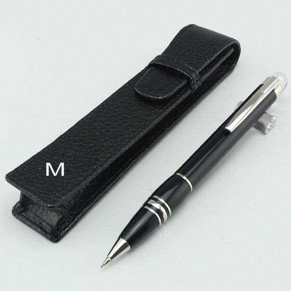 Astuccio portapenne di lusso opzione medio notte nero Matita meccanica 0.7mm Offce matite da scuola flessibile Penna per scrivere