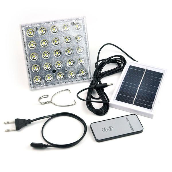 25LED Solar Camping Light Solar Multifunktions-Fernbedienung Solar-LED-Strahler Zelt Licht mit AC-Ladegerät Notfalllampe