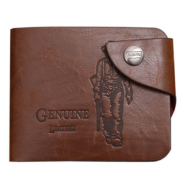 Wholesale- 2017 Hot Men's PU Leather Wallet Vintage Men Wallets Notecase Casual Hasp Money Clips Purse Male Coin Money Bag Man Wallet Burse