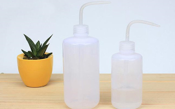 best selling 250 500ML Flower Watering Bottle Plastic Plant Sprayer Curved mouth watering can DIY Gardening Transparent for succulent plant 77